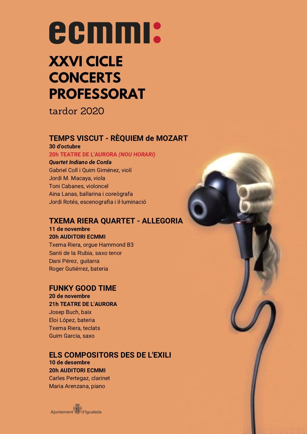 Arriba el Cicle de Concerts de Professorat!