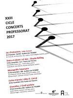 Cicle de Concerts de Professorat